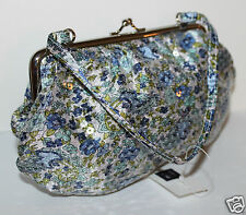 Gap Kids NWT Girl's Blue Floral Sequined Purse Bag w/ Metal Frame & Clasp