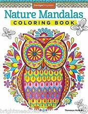 Nature Mandalas Adult Colouring Book Calm Relaxing Art Therapy Owls Animals