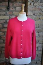 Marks & Spencer St Michael dark coral pink vintage Cashmere UK 18 cardigan