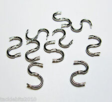 DOUBLE CLEVISES NICKEL SPINNER BLADE STIRRUP EASY SPIN LURE PARTS x10