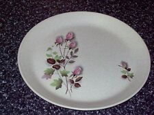 JOHNSON OF AUSTRALIA DINNER PLATE PINK ROSES GREEN FOLIAGE RETRO 25CM WIDE