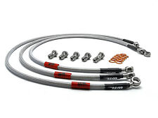 Wezmoto Full Length Race Front Braided Brake Lines Kawasaki ZZR1200 ZX1200 02-06