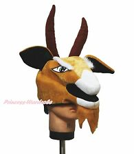 Halloween Party Brown Goat Wild Animal Soft Warm Hat Head Unisex Animal Costume