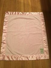 Pink And White Stripe My Blankee Stroller Blanket