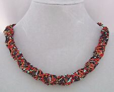 Red Turquoise Black Czech Glass Bead DNA Necklace Fashion Jewelry NEW Magnetic