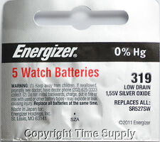 5 pcs 319 Energizer Watch Batteries SR527SW SR527 0% HG