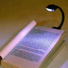 Fashion Mini White LED Clip Booklight Portable Travel Book Reading Light Lamp