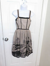 Nick and Mo of Anthropologie Modcloth Lolita Taupe/Black Dress- size 1