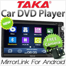 Mirror Link Car DVD Player Double 2 DIN Stereo Radio USB Capacitive Touchscreen