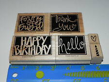 Stampin Up Vivid Greeting Stamp Set of 6 For my Friend Happy Birthday Thank you