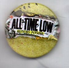 ALL TIME LOW - NOTHING PERSONAL  - RARE PIN BADGE  AMERICAN POP PUNK BAND