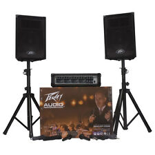 Peavey Audio Performer Pack - Portable PA System Mixer, Amp, Speakers, & Stands