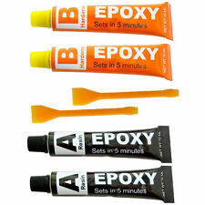 Epoxy Resin Glue Adhesive Kit - 2 Pack Repair Metal Ceramic Rubber Glass UK SALE