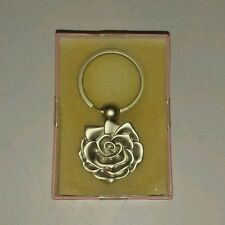 MARY KAY 2003 Rose Flower 40th Anniversary Edition Key Chain Silver