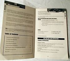 BOOK Filter Queen Defender 7500 Room Air Cleaner Instruction Manual