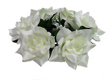 Candle Ring Rings ~ CREAM IVORY  ROSES ~ Silk Wedding Flowers Centerpieces Unity