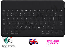 Logitech KEYS To Go Regno Unito QWERTY Bluetooth Tastiera Nero per iPad iPhone Apple TV