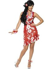 Hawaiian Beauty Adult Womens Smiffys Fancy Dress Costume - UK 12-14