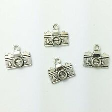 small camera Tibetan Silver Bead charms Pendants fit bracelet,10pcs 15x10mm!