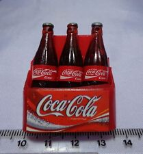 1:12 Scale Plastic Coca-Cola Crate & 3 large Bottles Dolls House Miniatures