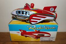 VINTAGE SCARCE COLLECTIBLE TIN TOY ROCKET RACER 6 FRICTION MF 735 CHINA!