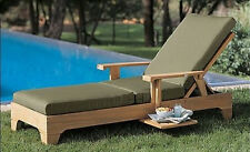 Caranas Grade-A Teak Chaise Lounger Sun Outdoor Garden Patio Steamer Furniture