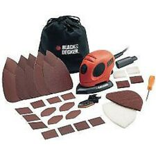 Black & Decker Mouse Detail Sander 15 Accessories inc Sanding Sheets Storage Bag