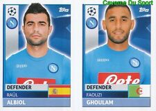 NAP6 FAOUZI GHOULAM - RAUL ALBIOL SSC.NAPOLI STICKER CHAMPIONS LEAGUE 2017 TOPPS