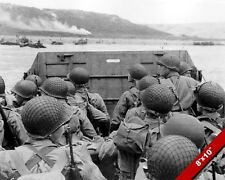 US SOLDIERS D-DAY INVASION OMAHA BEACH WORLD WAR 2 WWII PHOTO CANVAS ART PRINT