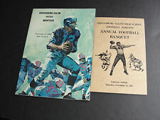 1967 Set of (2) Pa.HIGH SCHOOL FOOTBALL PROGRAM and Annual Banquet- Booklet.RARE