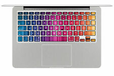 Macbook Air Pro Vinyl Skin Sticker Decal keyboard spectrum colour rainbow KP052