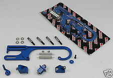 BLUE BILLET THROTTLE CABLE LINKAGE BRACKET CVR HOLLEY DEMON CHEV HOLDEN MOPAR