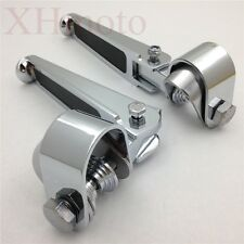 """1.25"""" U-Clamp Footpegs For Harley Sportster CVO Ultra Classic Dyna Wide Glide"""