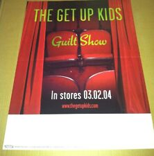 THE GET UP KIDS 2004 Retail PROMO POSTER for No Angel Garden CD USA 18x24 USA