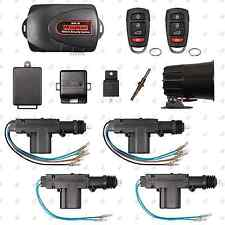 Remote Car Alarm Keyless Entry Security + 4 Door Power Lock Actuator Motor Kit