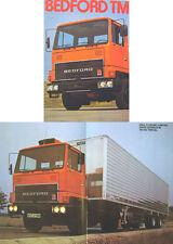Bedford TM Rigid & Tractor Trucks 1974-75 original UK Brochure Pub. No. B/BX1655