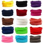 Bandana Head Face Mask Neck Snood Headwear Beanie Solid Colors Tube Scarf Beauty