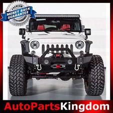 07-16 Jeep Wrangler JK Rock Crawler Heavy Duty Front Bumper+OE Fog Light Mount
