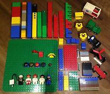 Lego Duplo Teile Bauklötze 151 Teile 3 Platten 4 Fahrzeuge 1 Hubschrauber