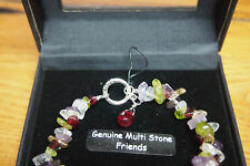 Sterling Silver Thai Genuine Multi Stone Friends Bracelet