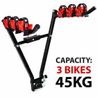3 BIKE CARRIER TOW BAR BALL MOUNTED VEHICLE CAR VAN 4x4 BICYCLE CYCLE TRANSPORT