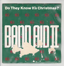 "BAND AID 2 II Vinyl 45 tours SP 7"" DO THEY KNOW IT'S CHRISTMAS ? POLYDOR 873646"