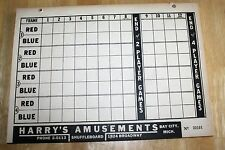 Vintage Shuffleboard Score Pads Tally 2 / 4 Player Pad Book Gaming Arcade Unused