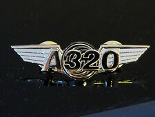 Airbus A320 Wings Pin Gold Pilot, Flight Attendant uniform badge gift 55mm