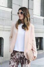 NWT $149 ZARA SS16 Women NUDE ASYMMETRICAL Blazer Jacket ref 2336/782_size S