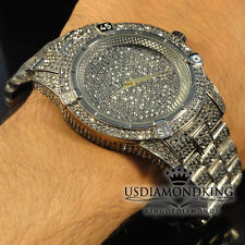 Men's New Fully Ice Out Black Gold Finish Bling Master Simulated Diamond Watch