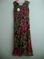 April Cornell Black Dress New L Large Vintage Romantic Pink Victorian Floral NWT
