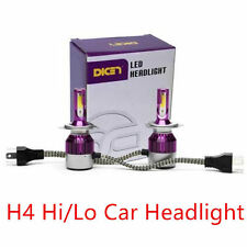 2 x H4 Hi/Lo car led headlight 7600LM 72W C6 light All in one Super Bright Lamps