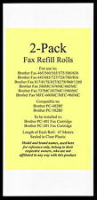 2-pack of Fax Refill Rolls for Brother Fax 465 560 565 575 580 636 645 685 1280