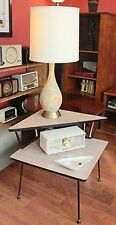 Vintage Retro Atomic MCM 2-Tiered Corner Formica Table
